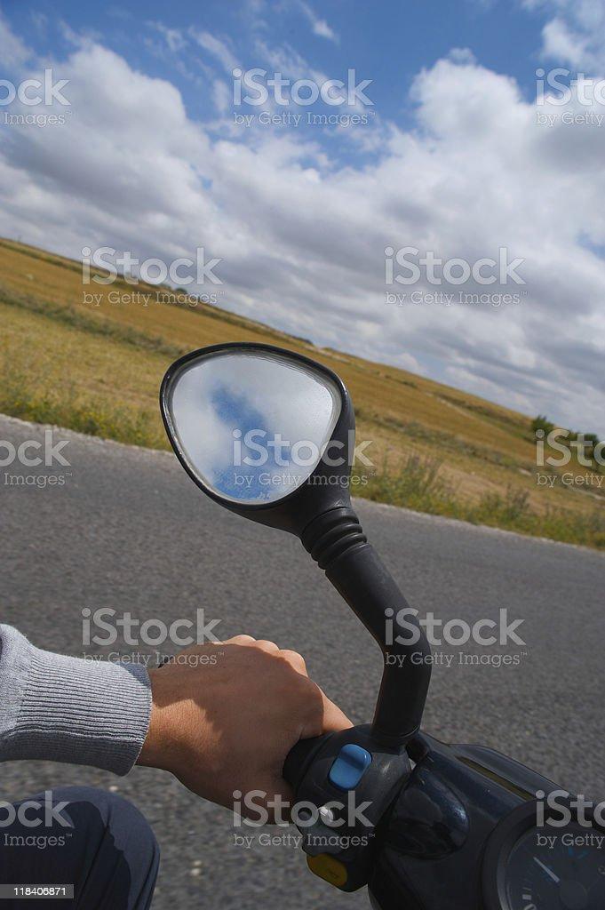 Scooter motorista foto royalty-free