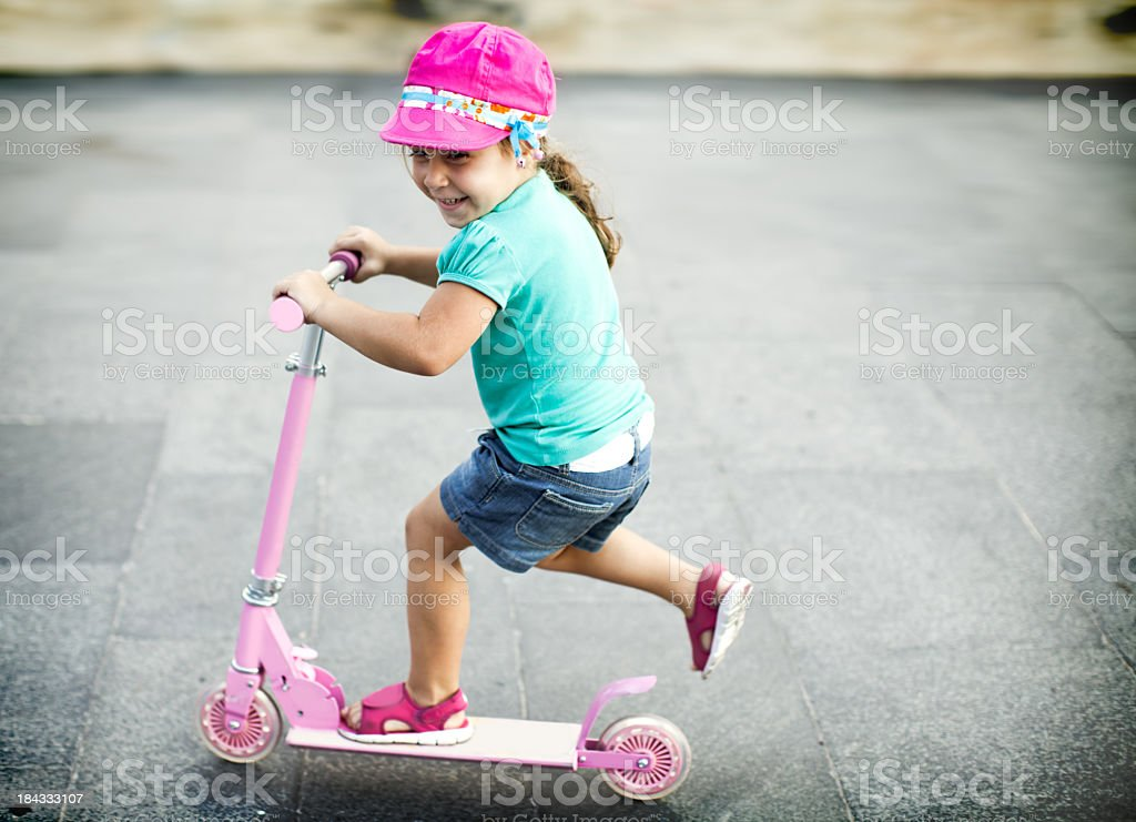 Scooter girl royalty-free stock photo