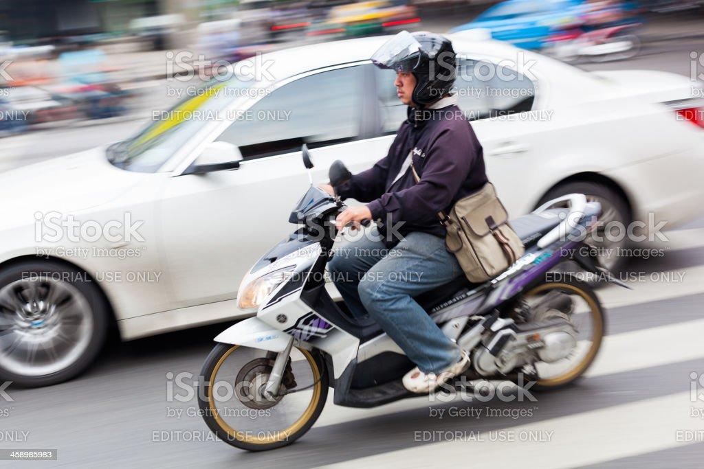 Scooter in Bangkok royalty-free stock photo