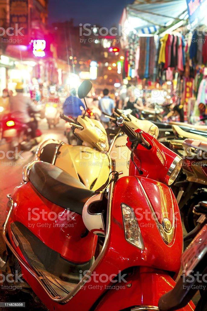 Scooter in Hanoi, Vietnam royalty-free stock photo