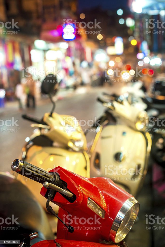 Scooter in Hanoi, Vietnam royalty-free stock photo