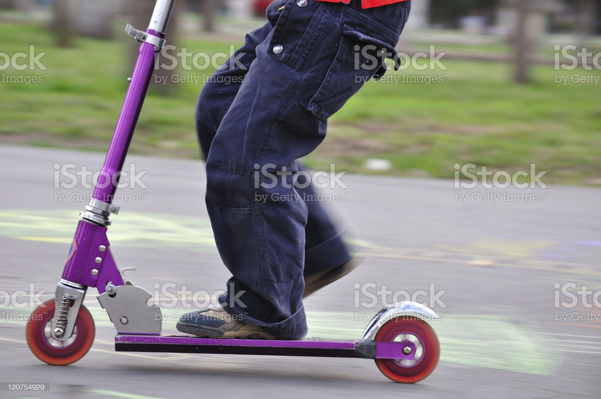 Scooter in motion royalty-free stock photo