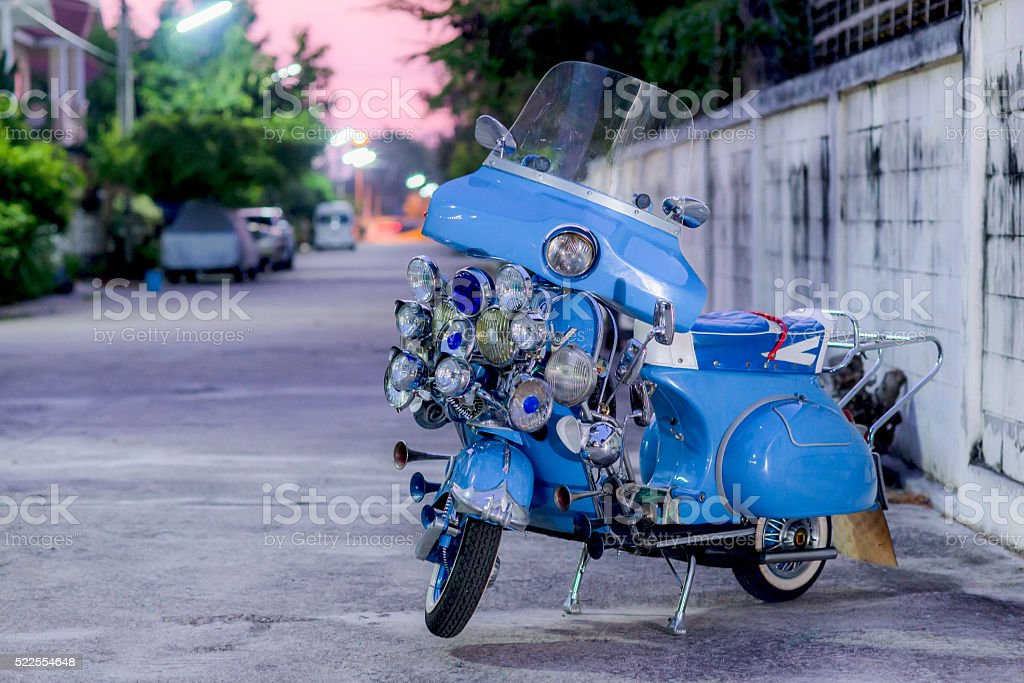 Scooter Mods Style stock photo