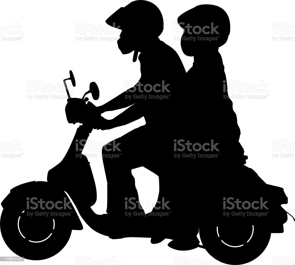 Scooter Couple royalty-free stock photo