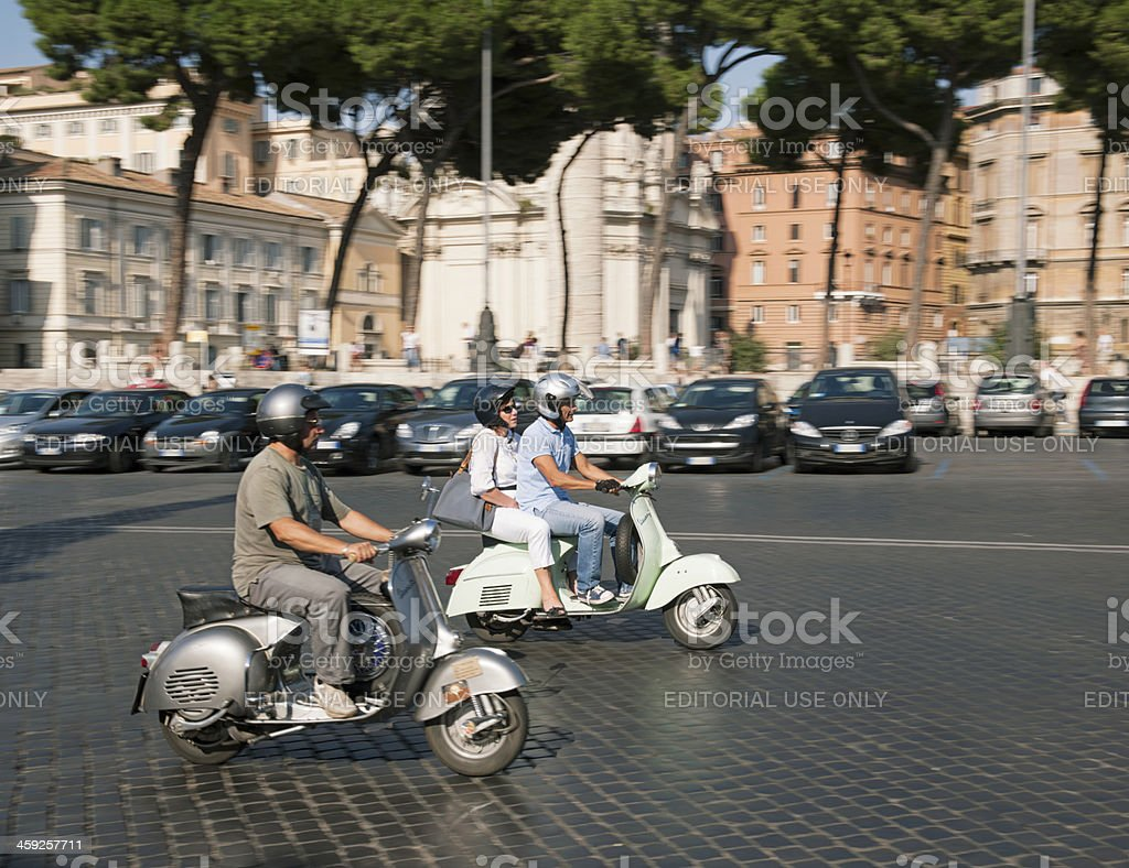 Scooter Transport in Rome stock photo