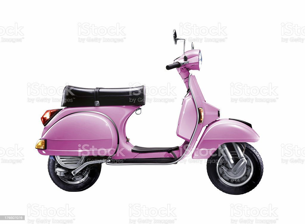 Scooter with Cliping Path stock photo
