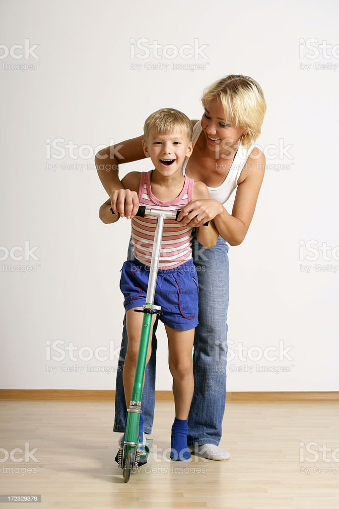 Scootering together royalty-free stock photo