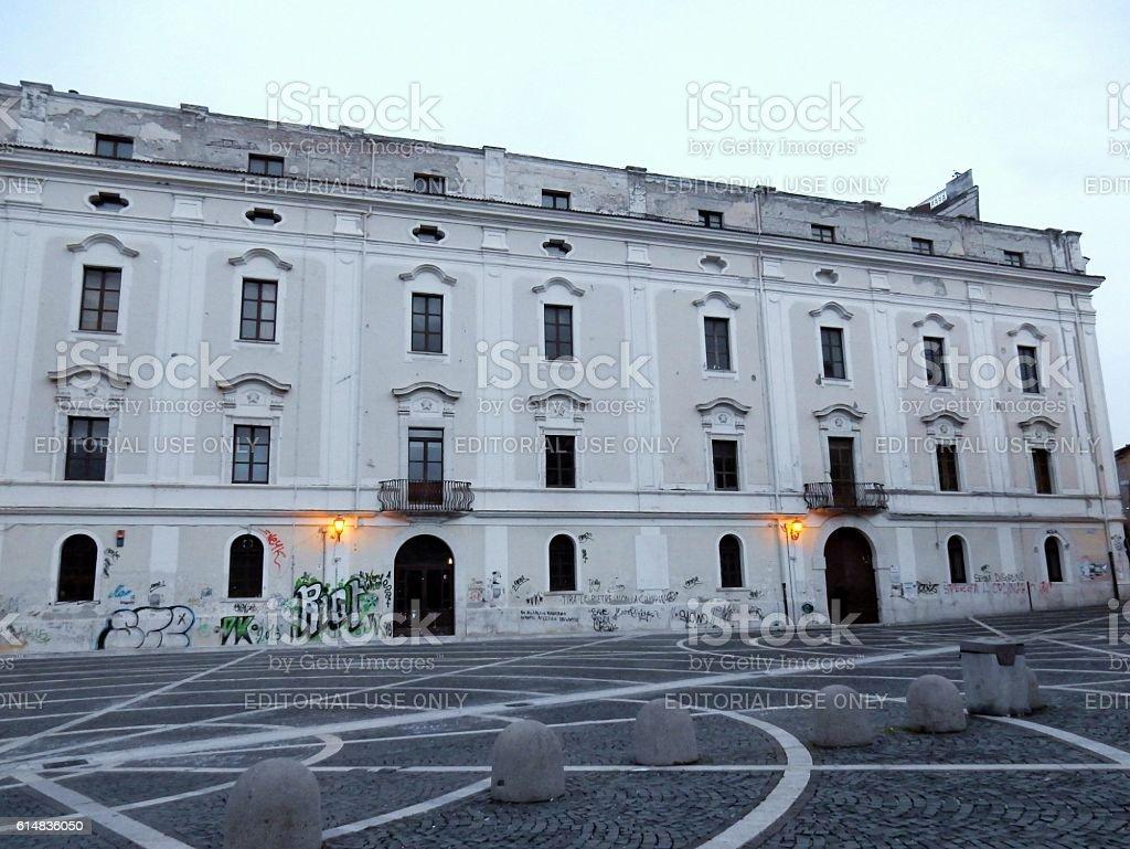 Scorcio di Palazzo De Simone stock photo