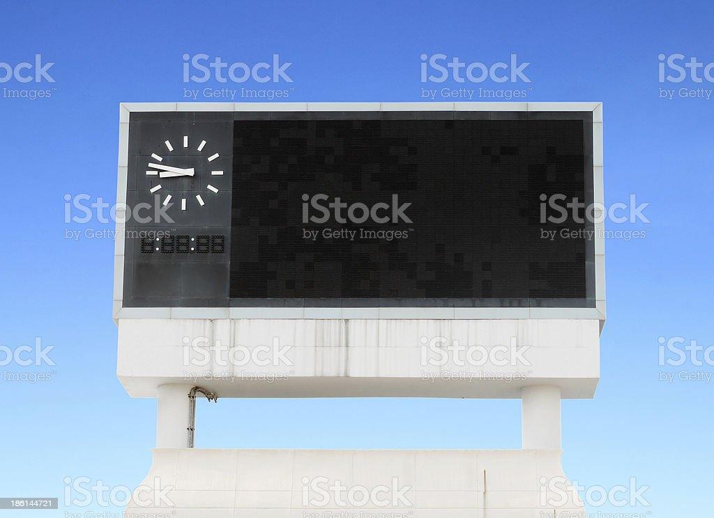 score board at football stadium stock photo
