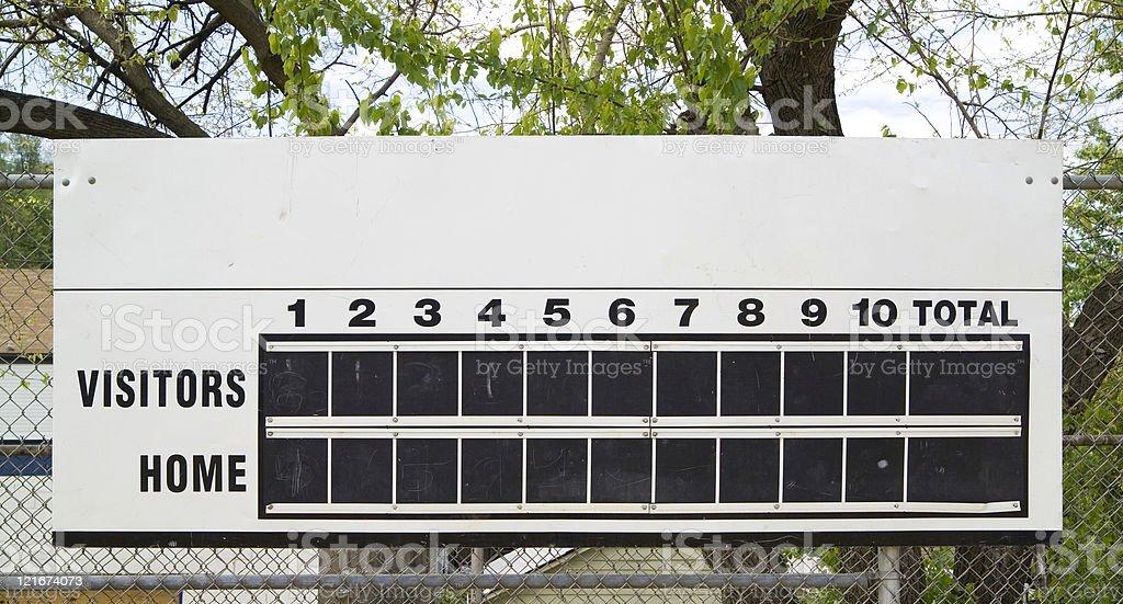 score board royalty-free stock photo