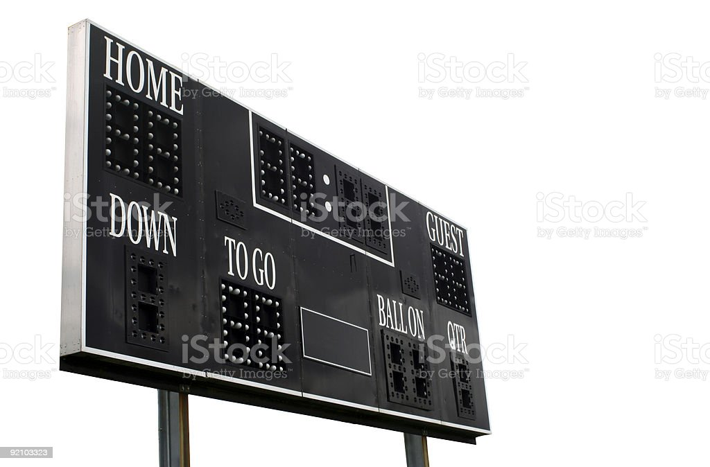 Score Board stock photo