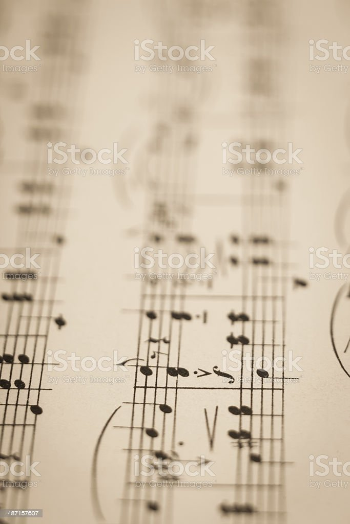 Score of antique stock photo