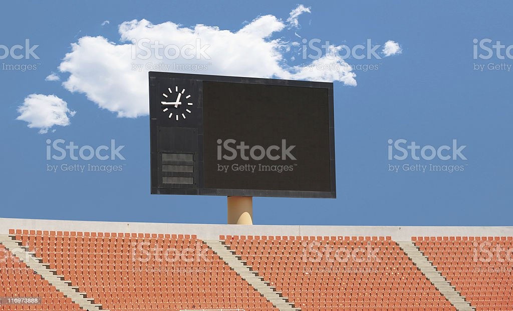 Scoreboard in a Stadium stock photo