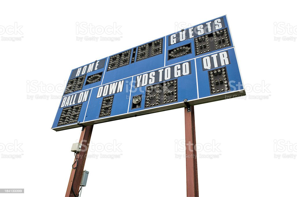 Scoreboard Isolated With Clipping Path royalty-free stock photo
