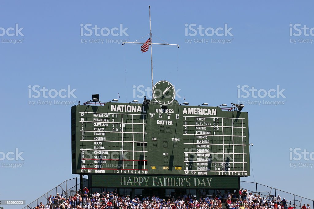Scoreboard stock photo