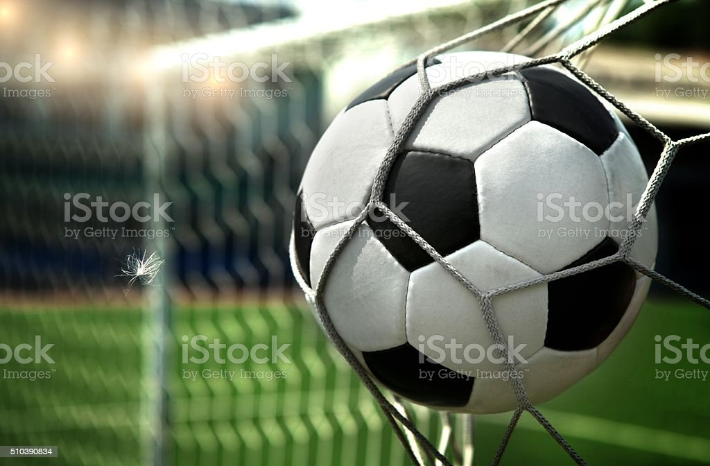 Scored a goal stock photo