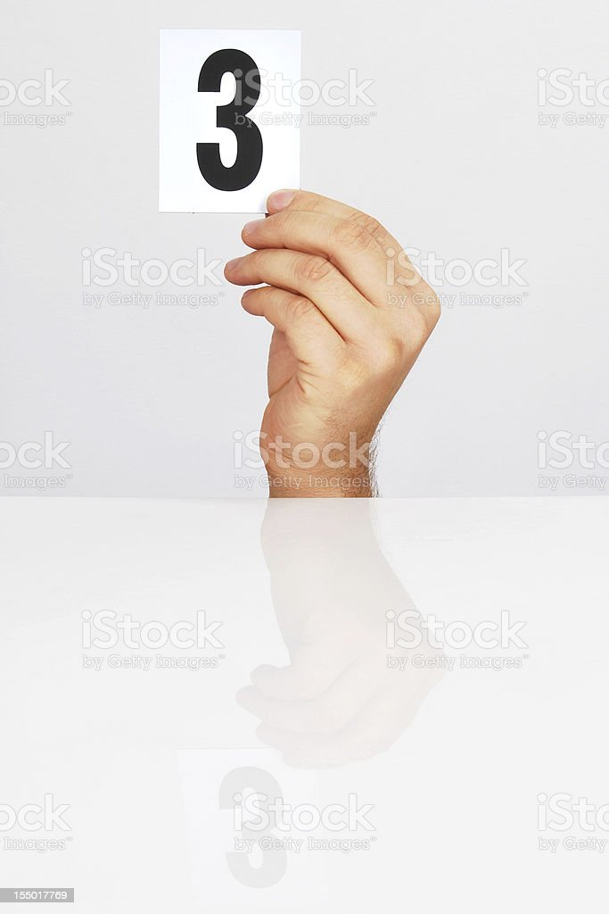 Scoring 3 royalty-free stock photo