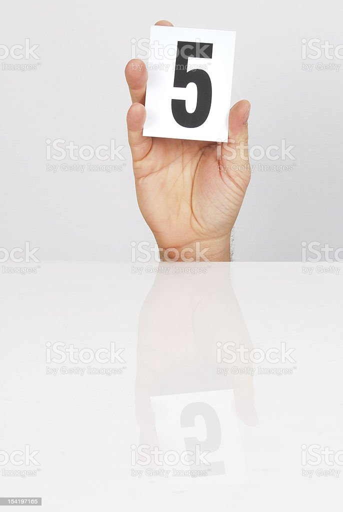 Scoring 5 royalty-free stock photo