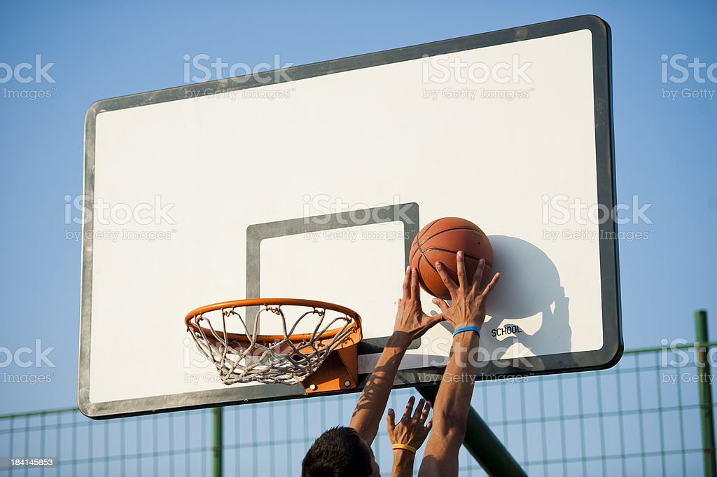 Scoring action stock photo