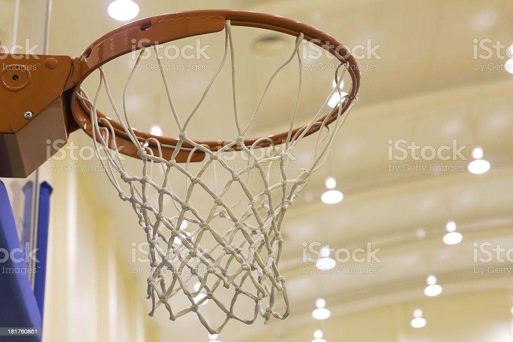 scoring basket in basketball court royalty-free stock photo