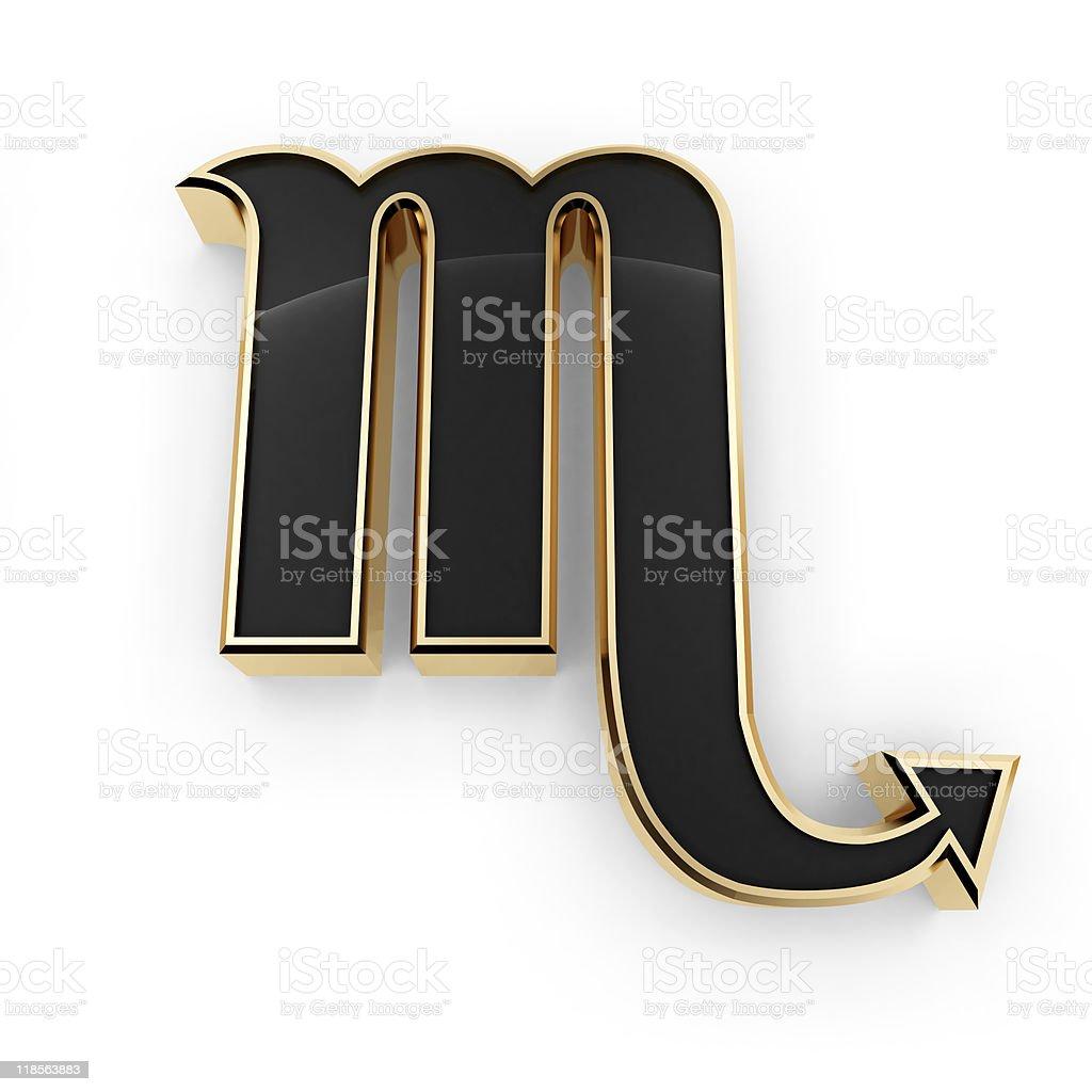 Scorpio zodiac symbol icon royalty-free stock photo