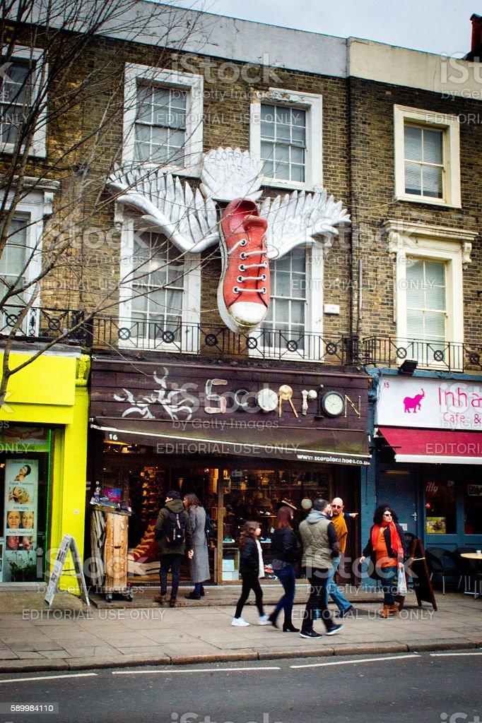 Scorpion shop Camden stock photo