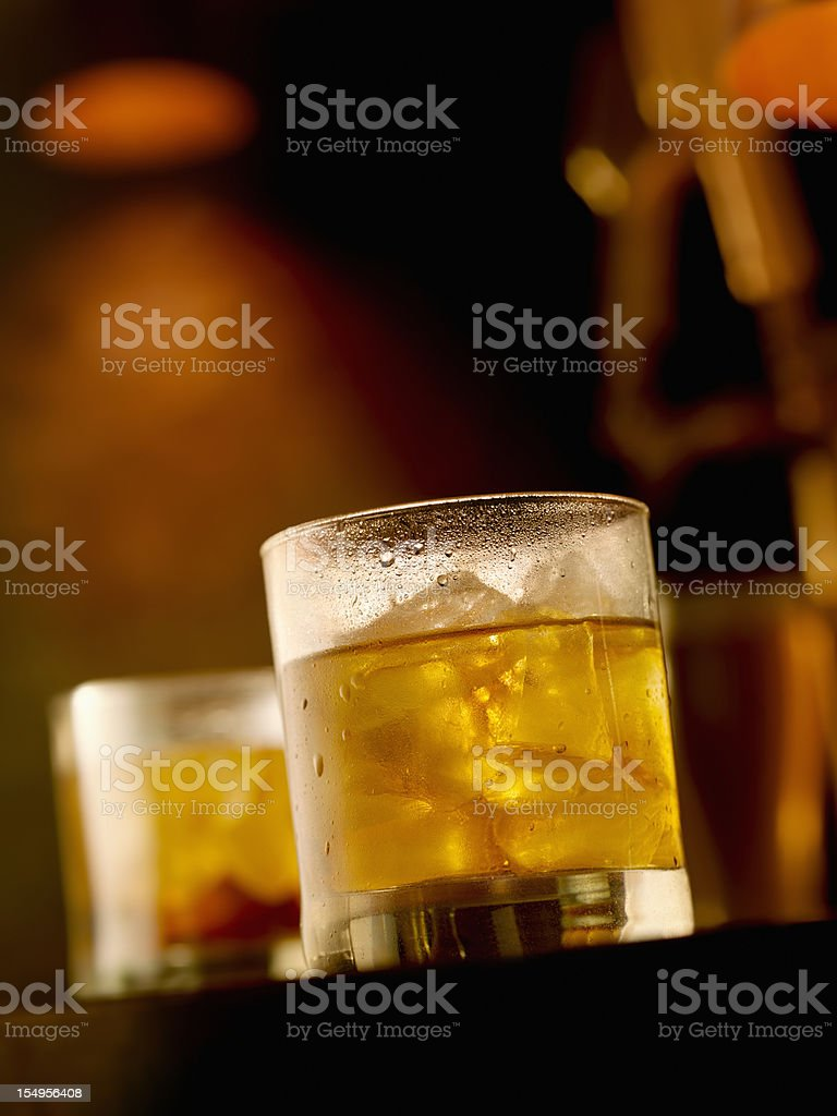Scotch and Water on the Rocks royalty-free stock photo