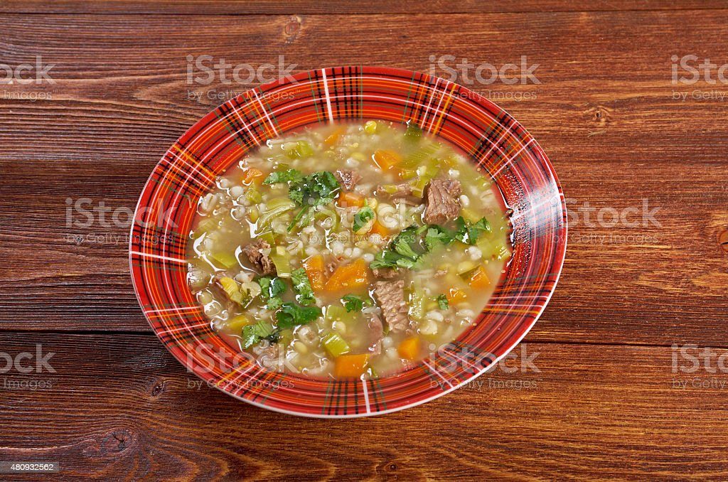 Scotch Broth Soup stock photo
