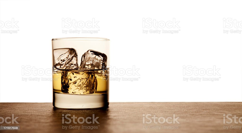Scotch On Rocks royalty-free stock photo