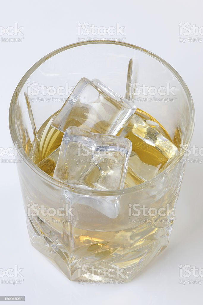 Scotch on the Rocks royalty-free stock photo