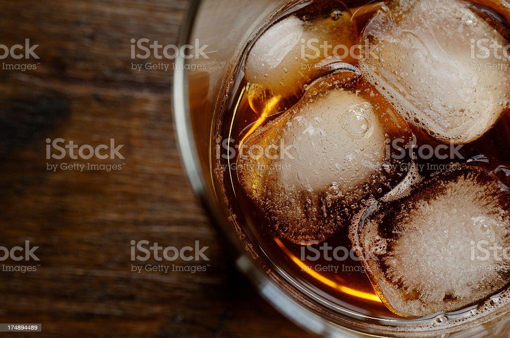 Scotch on the rocks stock photo