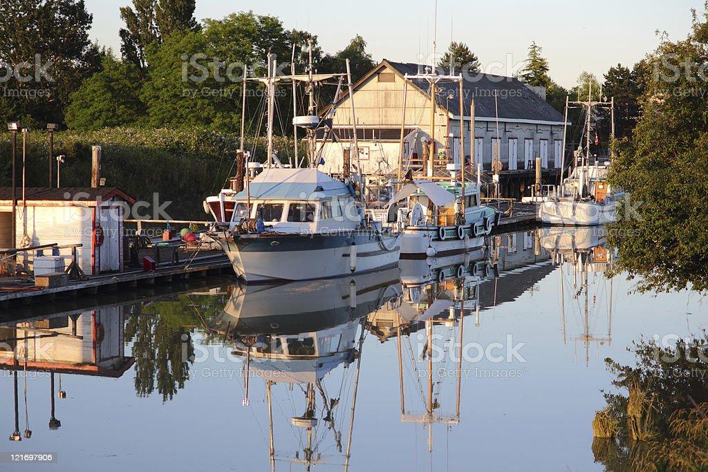 Scotch Pond Dusk, Steveston, British Columbia royalty-free stock photo