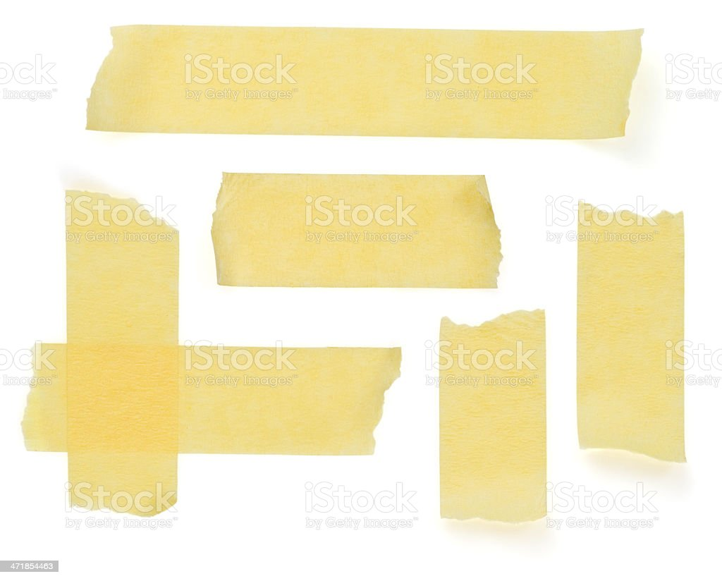 scotch strips on white stock photo