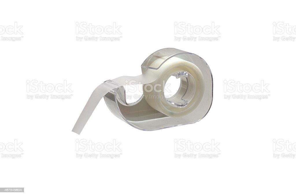 Scotch Tape isolated over white stock photo