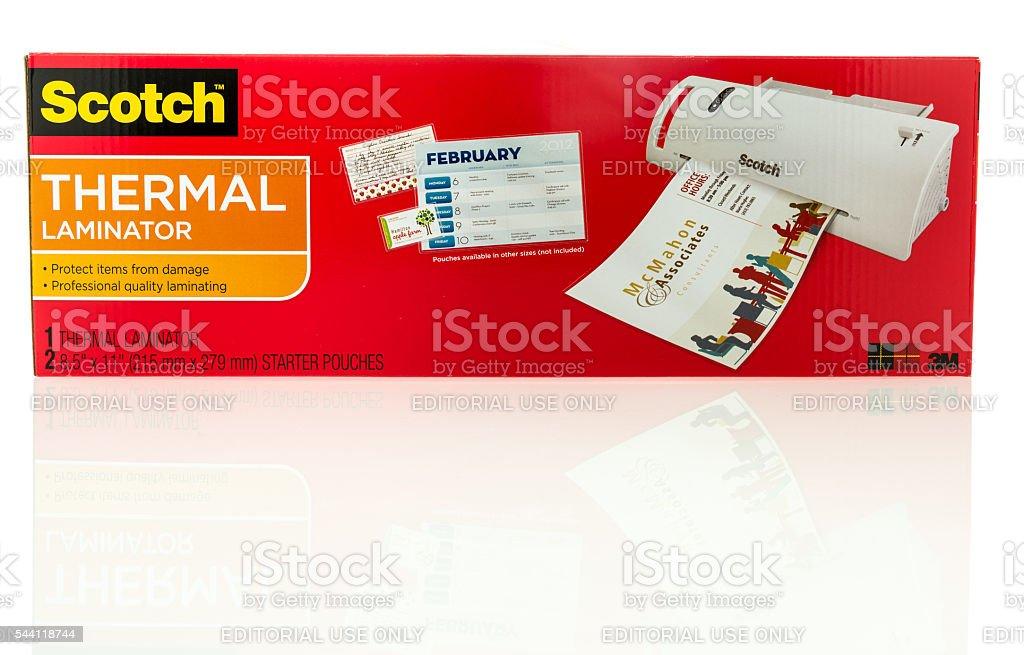 Scotch Thermal Laminator stock photo