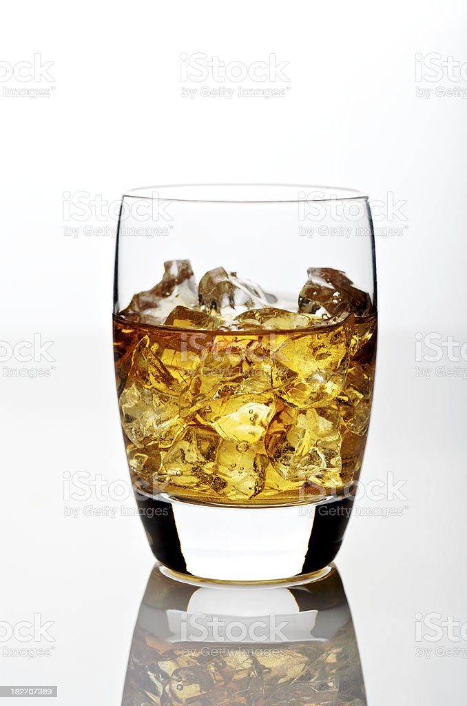 Scotch Whiskey Cocktail with Ice royalty-free stock photo