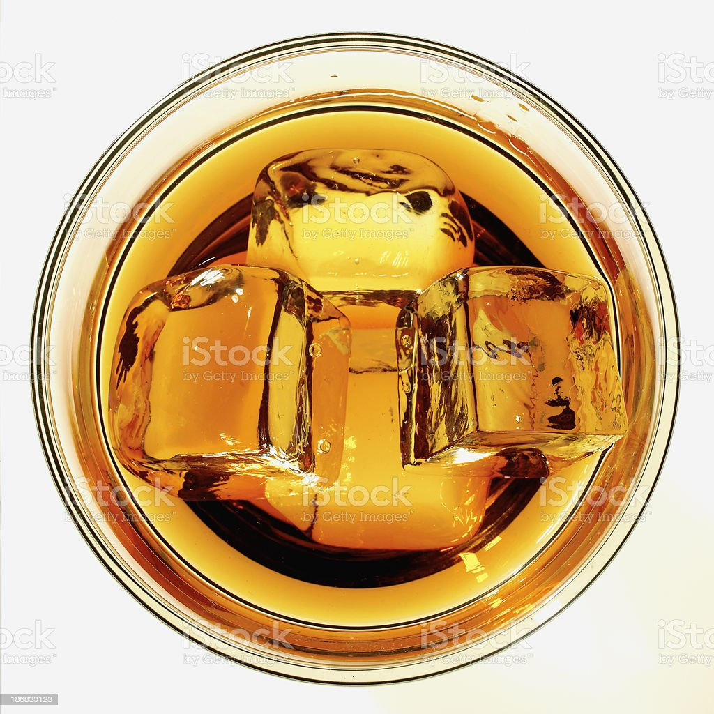 Scotch whiskey on the rocks royalty-free stock photo