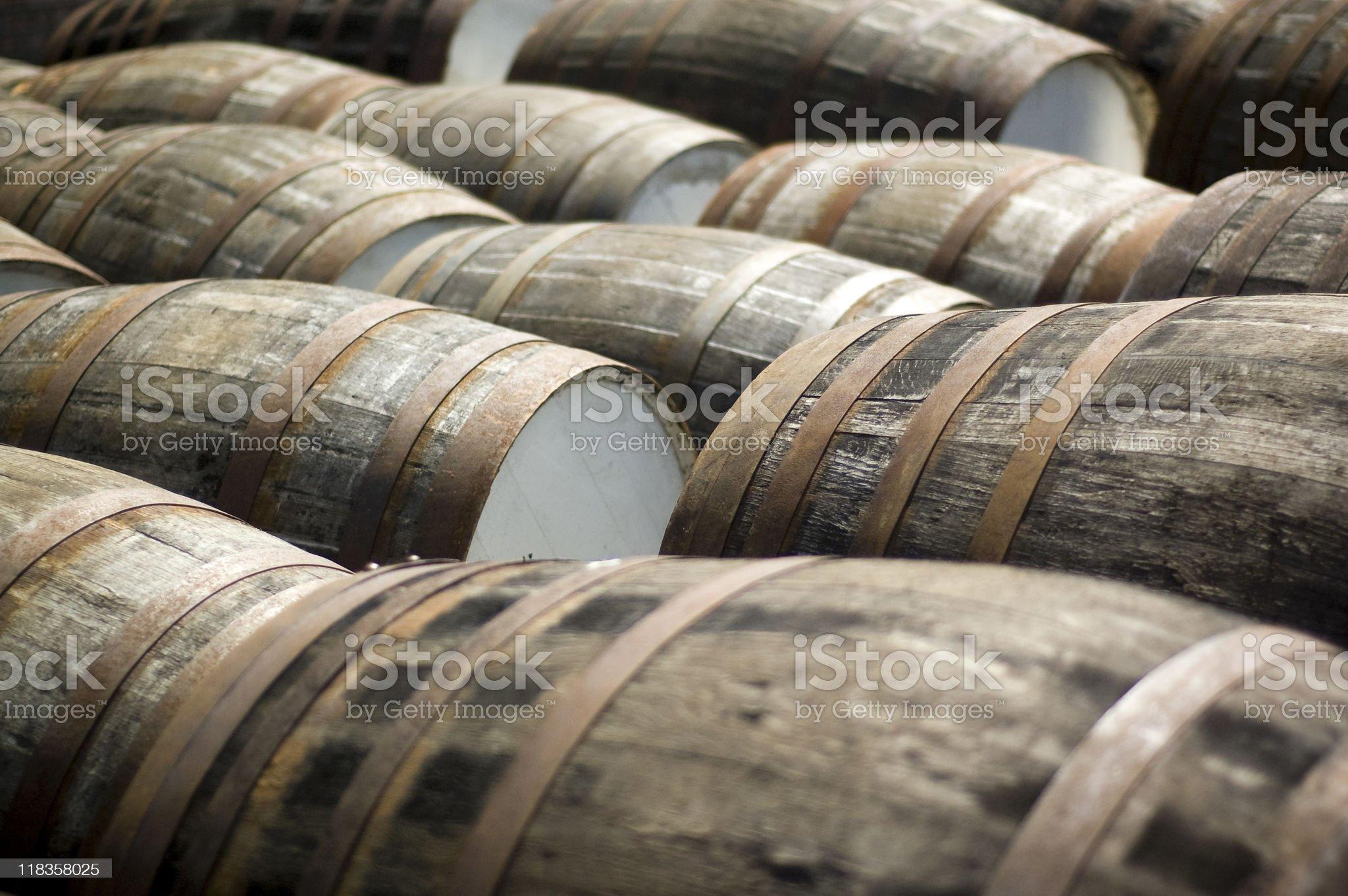 Scotch Whisky Barrels royalty-free stock photo