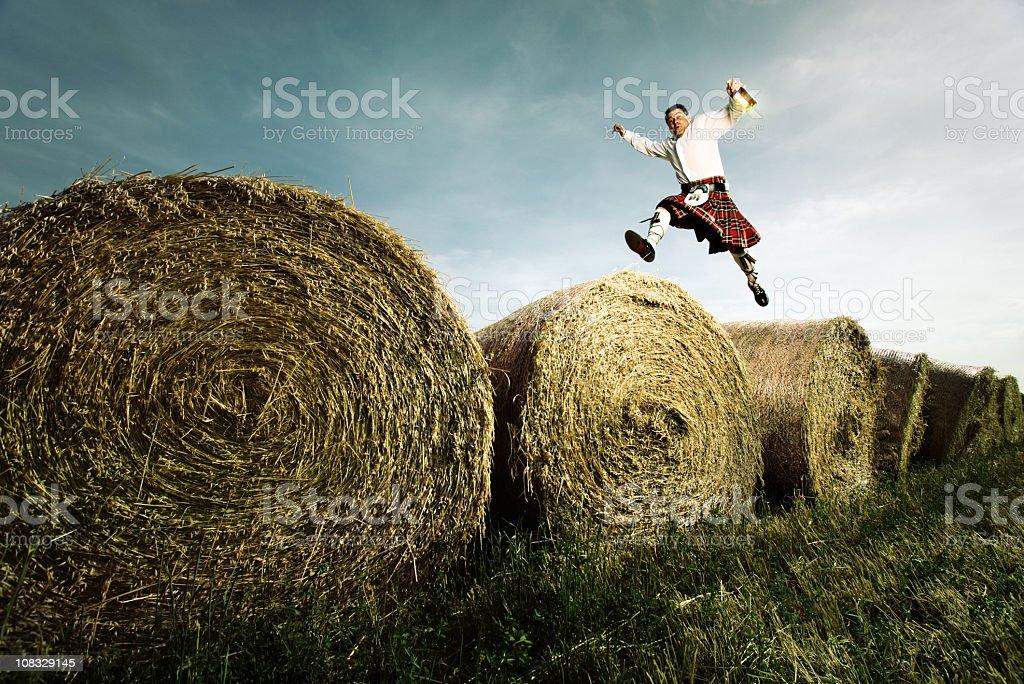 Scotish whisky jumper stock photo