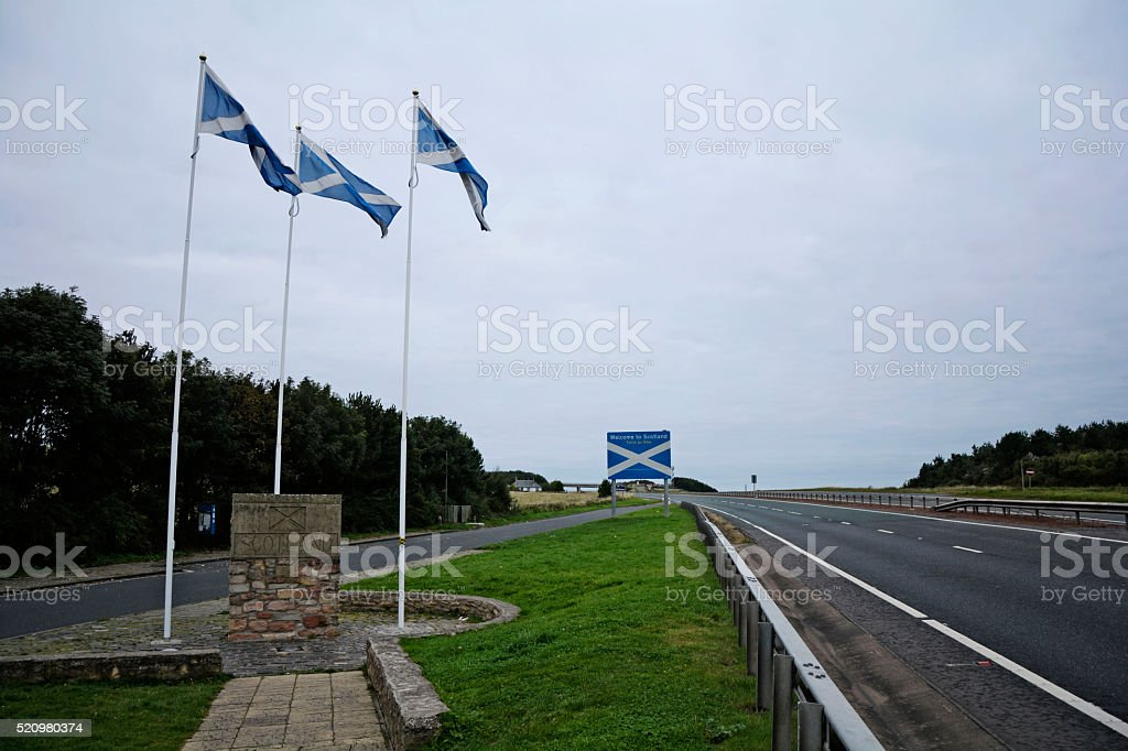 Scotland border stock photo