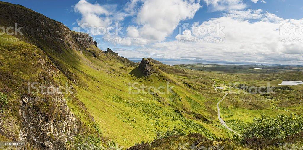 Scotland dramatic Highland vista Isle of Skye panorama royalty-free stock photo