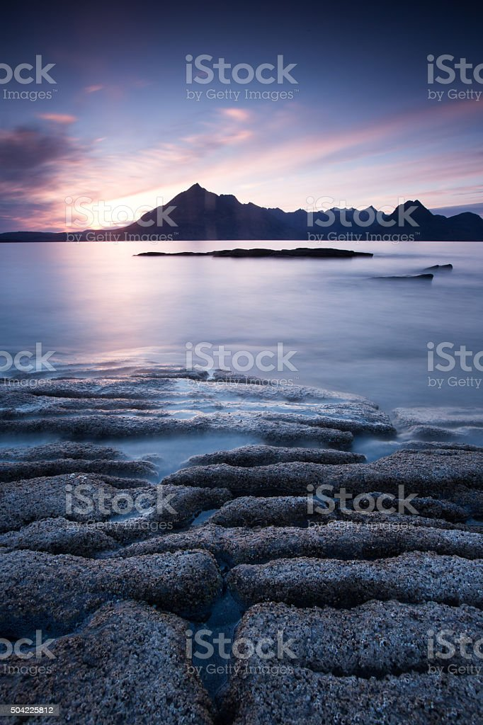 Scotland elgol beach stock photo
