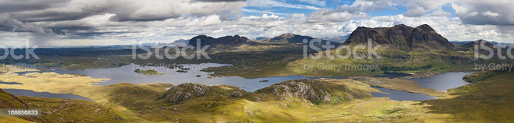 Scotland epic Highland landscape mountain panorama stock photo