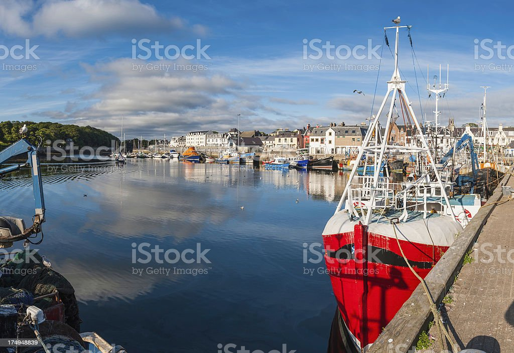 Scotland fishing harbour trawlers Stornoway Western Isles royalty-free stock photo