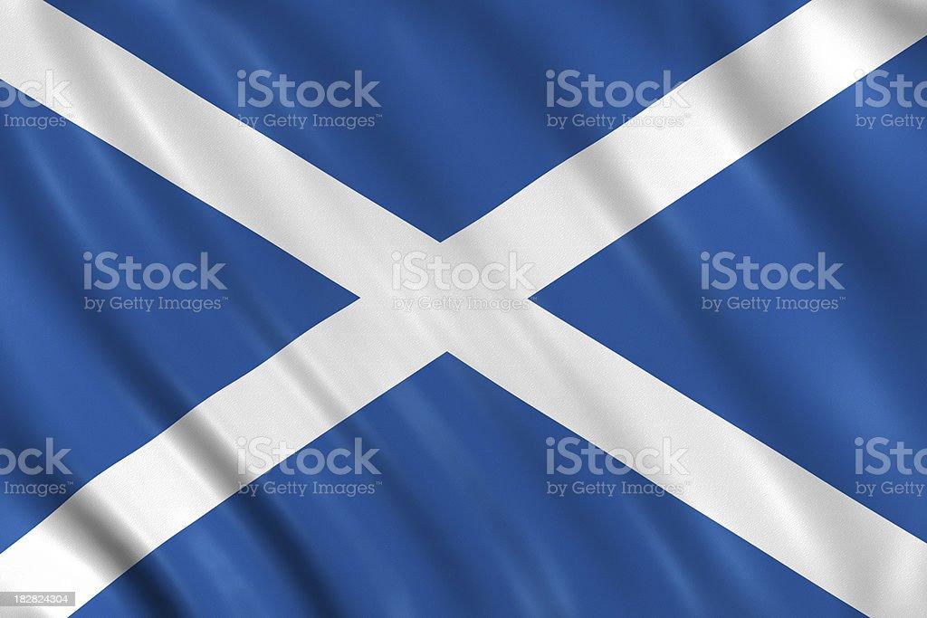 scotland flag royalty-free stock photo