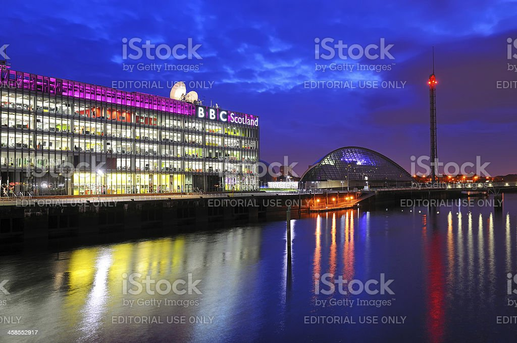 BBC Scotland, Glasgow stock photo