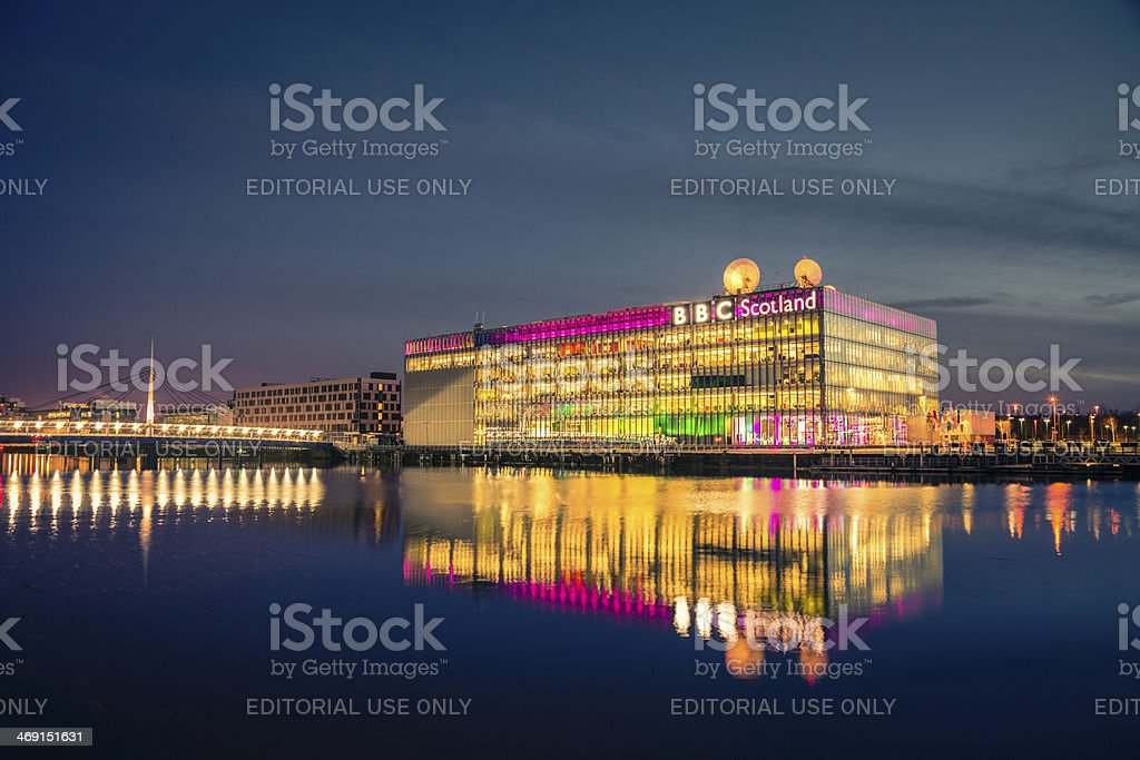 BBC Scotland Headquarters stock photo