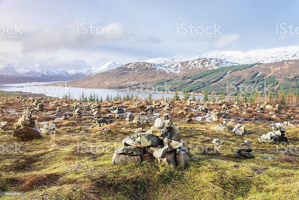 Scotland Highlands Landscape stock photo