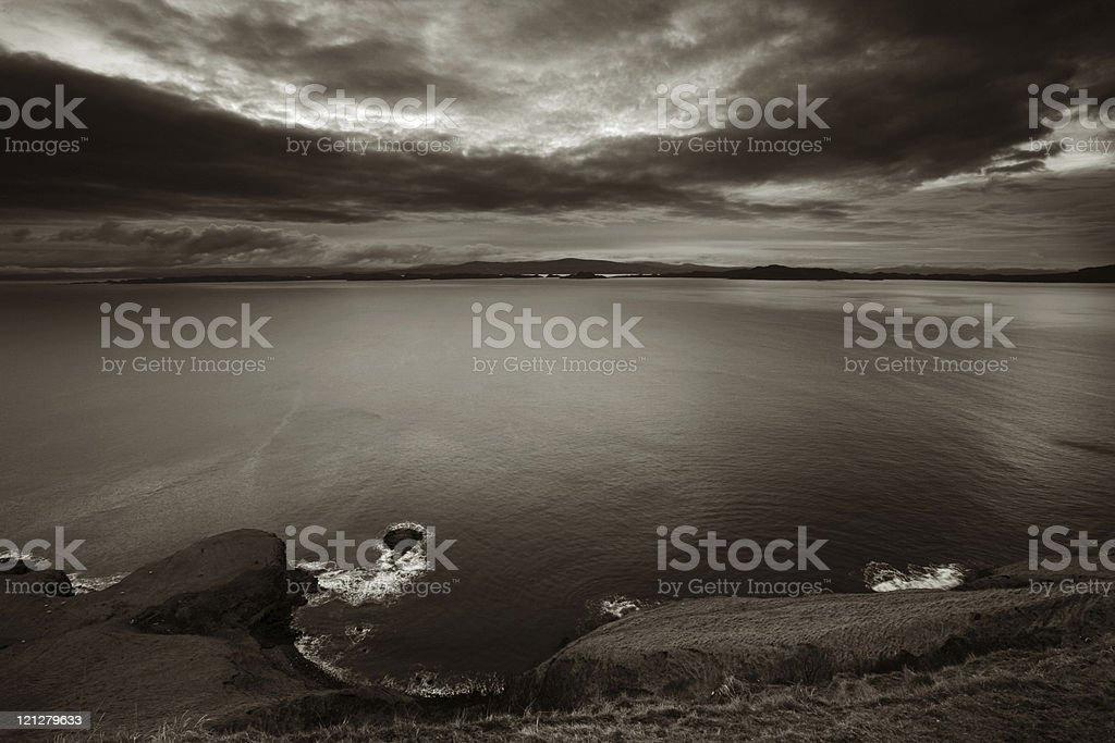 Scotland Highlands Vista stock photo