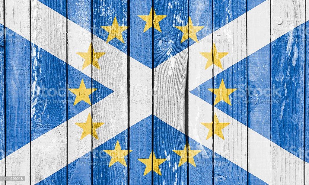 Scotland in European Union Brexit Concept Image stock photo